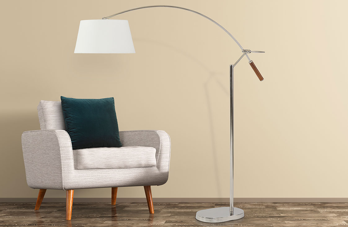 Buy Luxury Hotel Bedding from Marriott Hotels - Arc Floor Lamp