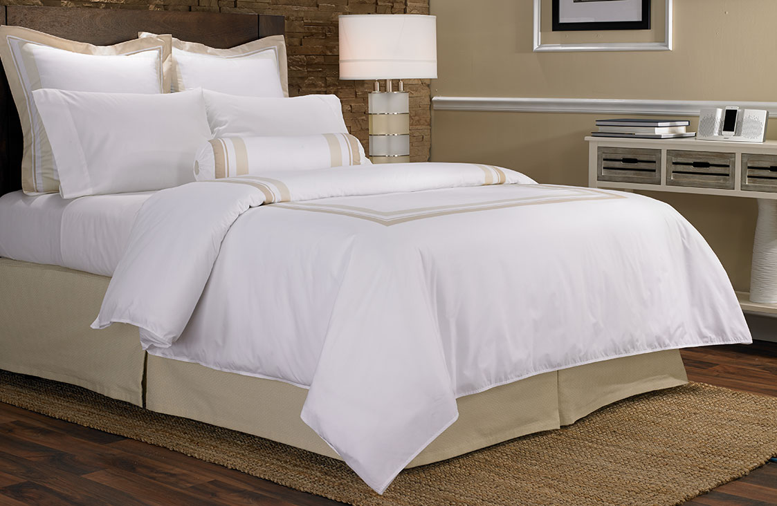 buy luxury hotel bedding from marriott hotels block print bedding set