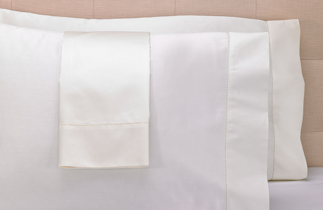 Ivory Hemstitch Pillowcases