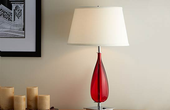 Red Teardrop Lamp