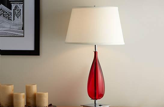 Marriott red teardrop lamp mar 740 lrg