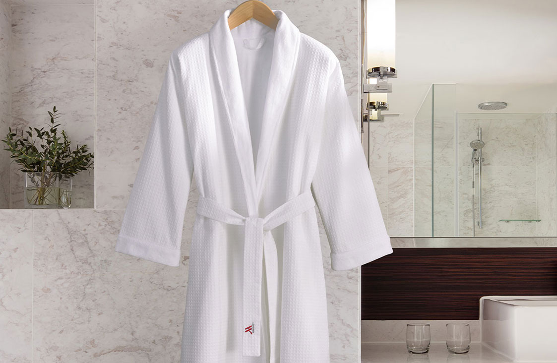 Buy Luxury Hotel Bedding from Marriott Hotels - Waffle Shawl Collar Robe 01b8b0d05