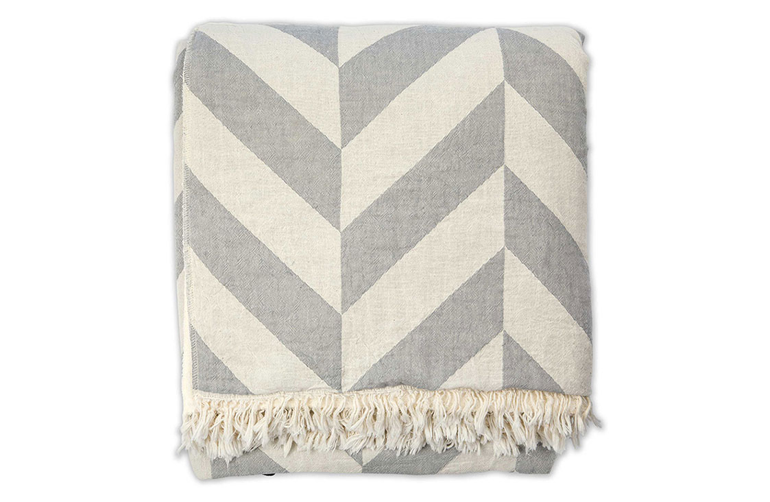 Chevron Fleece Throw