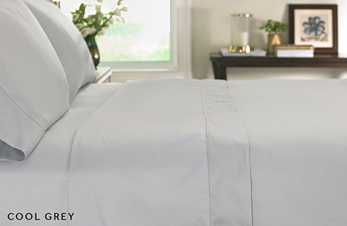 Grey Hemstitch Flat Sheet