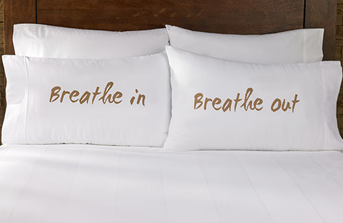Breathe In Breathe Out Pillowcases