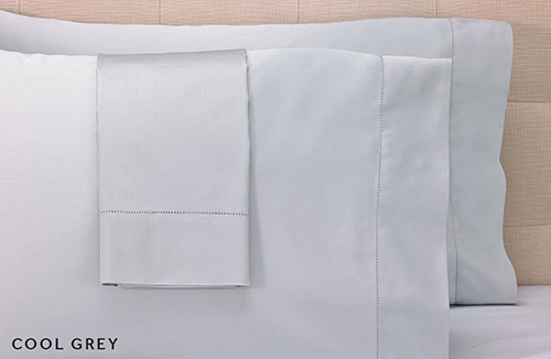 Grey Hemstitch Pillowcases