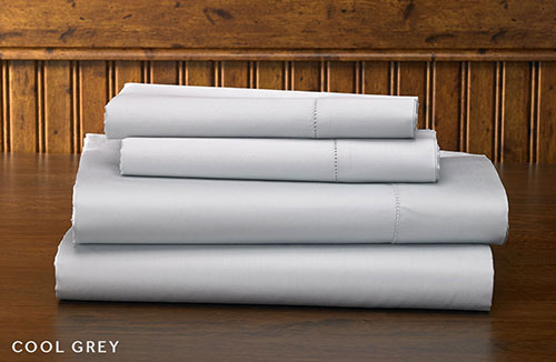 Grey Hemstitch Sheet Set