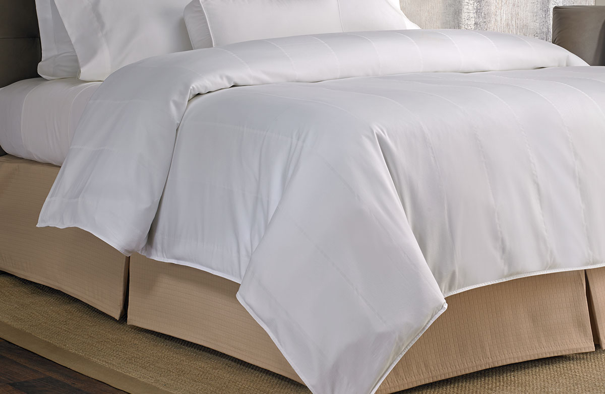 Buy Luxury Hotel Bedding From Marriott Hotels Bird S Eye Stripe Duvet Cover