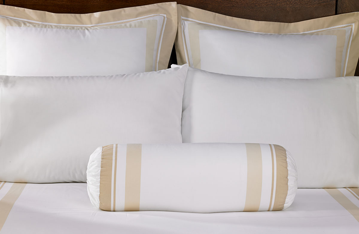 buy luxury hotel bedding from marriott hotels block print bolster pillow