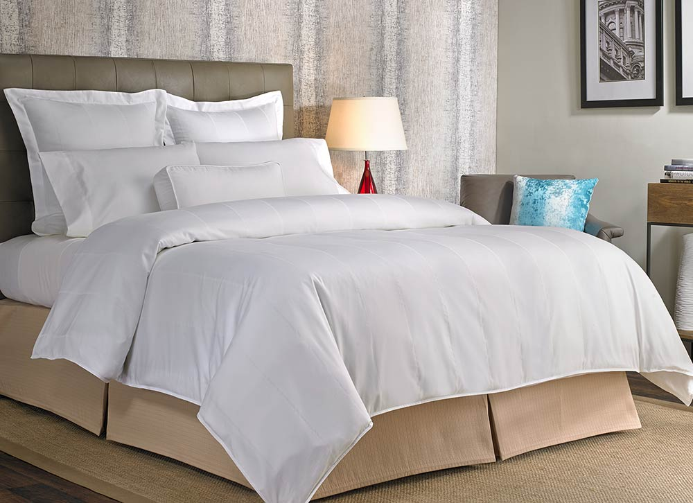 Buy luxury hotel bedding from marriott hotels foam for Luxury hotel 660 collection bed skirt